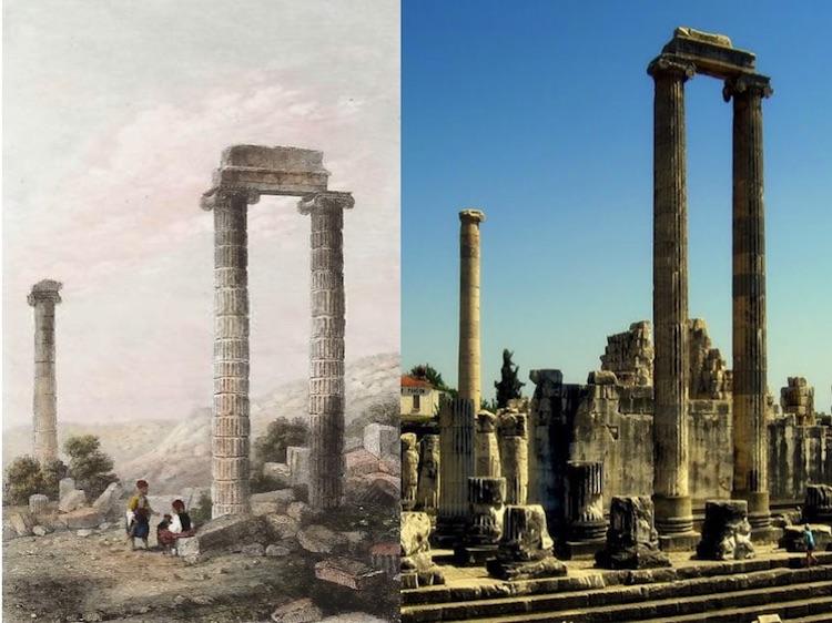 Didim Apollon Tapınağı (Gravür: Lemaître 1862) (Aydın)
