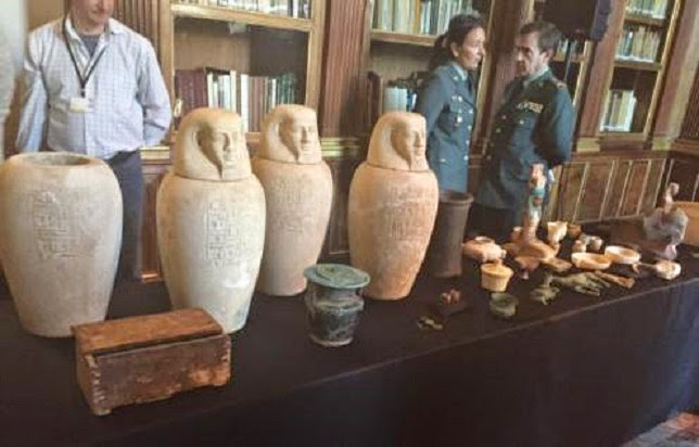 antik mısır eseri kaçakçılığına darbe
