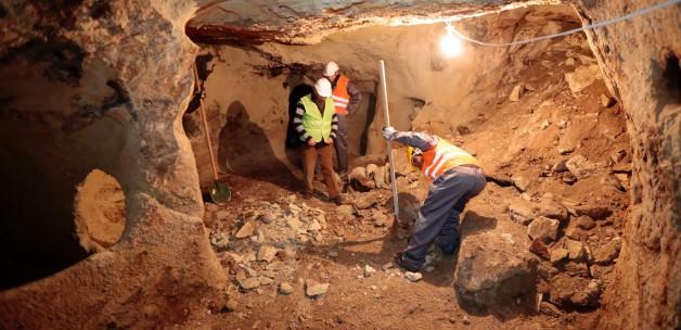 nevşehir'deki yeraltı şehrinde temizleme çalışmaları başladı