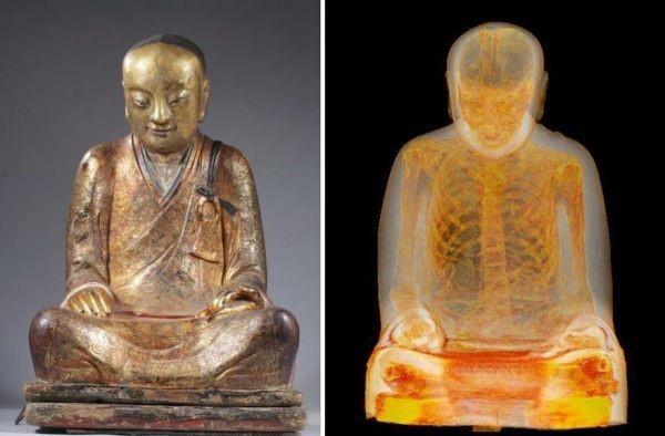 çinli buda heykeli bin yıllık mumya