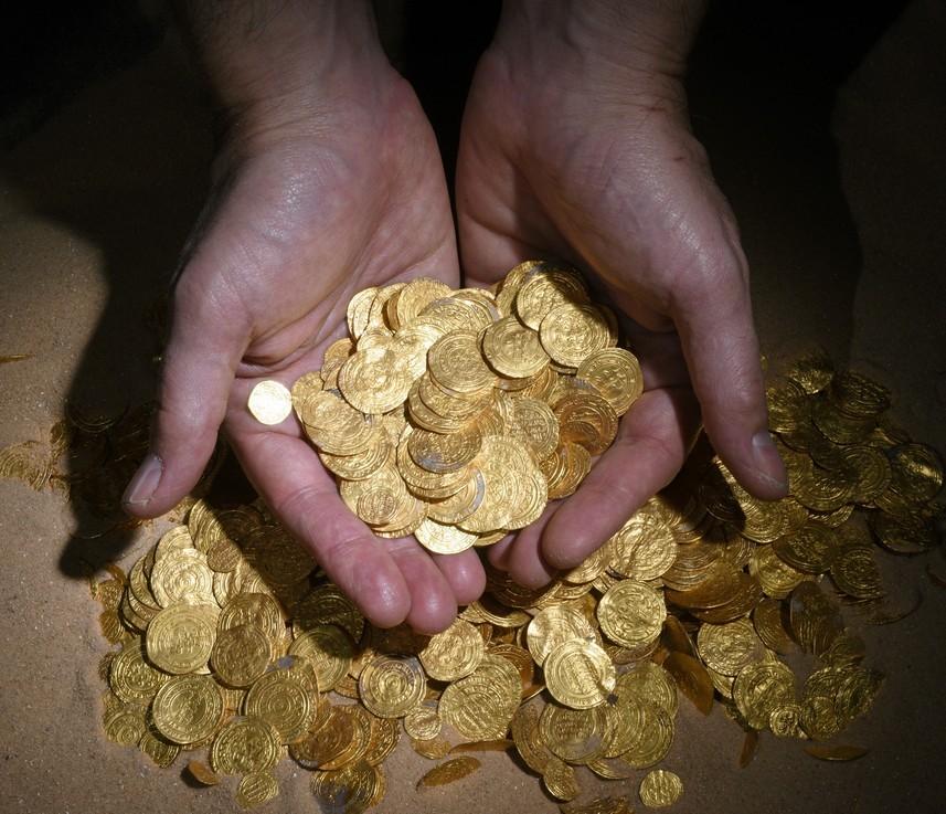 israilin en büyük altın hazinesi bulundu