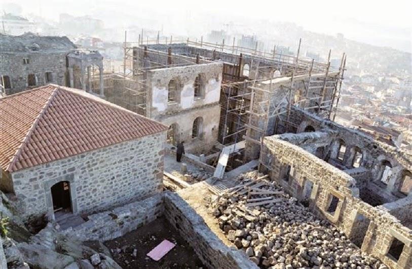 Trabzon'da yer alan Panaghia manastırı restore ediliyor