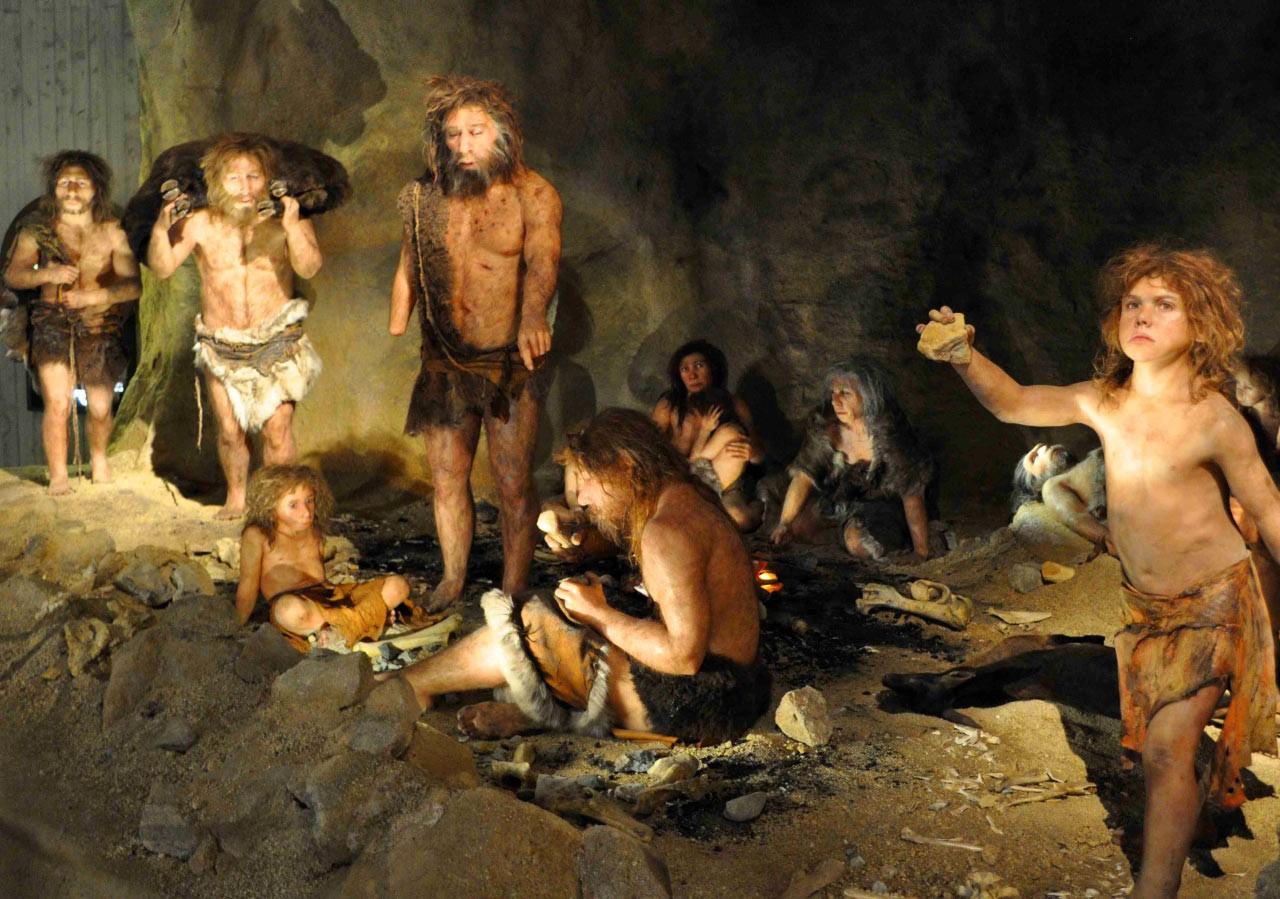 neandertal ateş yemek
