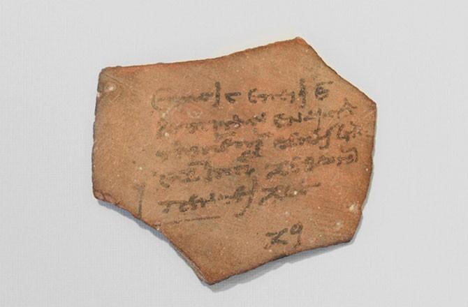 antik mısır'da vergileri gösteren makbuz