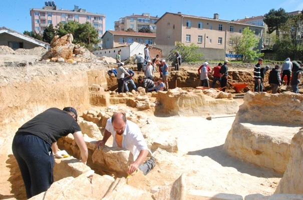 sinop'ta antik nekropol bulundu
