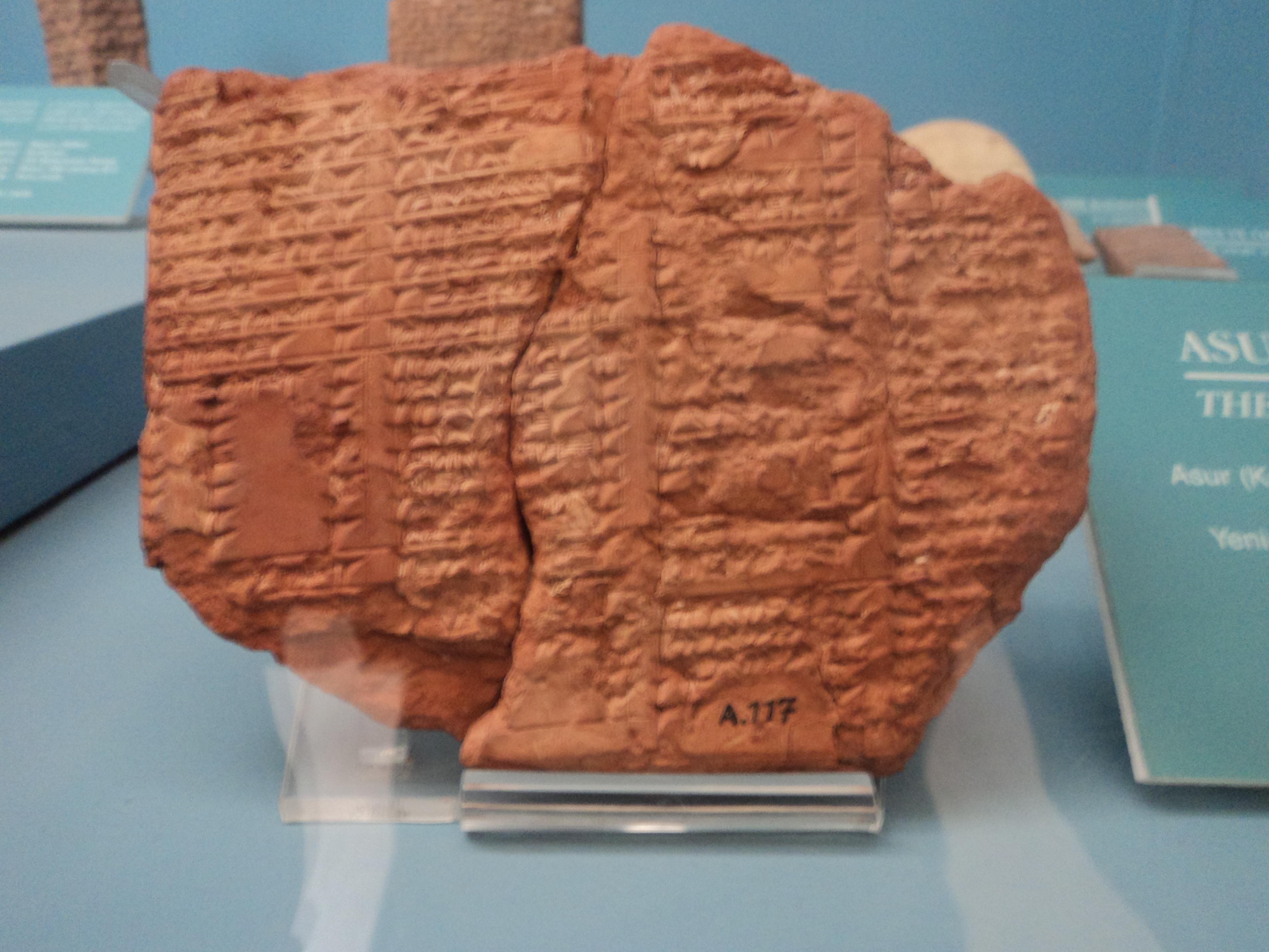 istanbul arkeoloji müzesindeki tabletlerin çevirisi