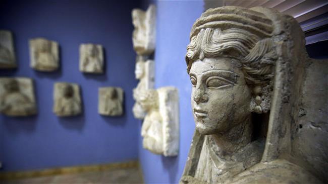 ışid palmira antik kenti eserlerini Türkiye üzerinden satıyor