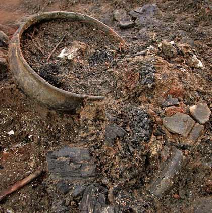 cambridge yanmış arkeolojik alan ingiltere
