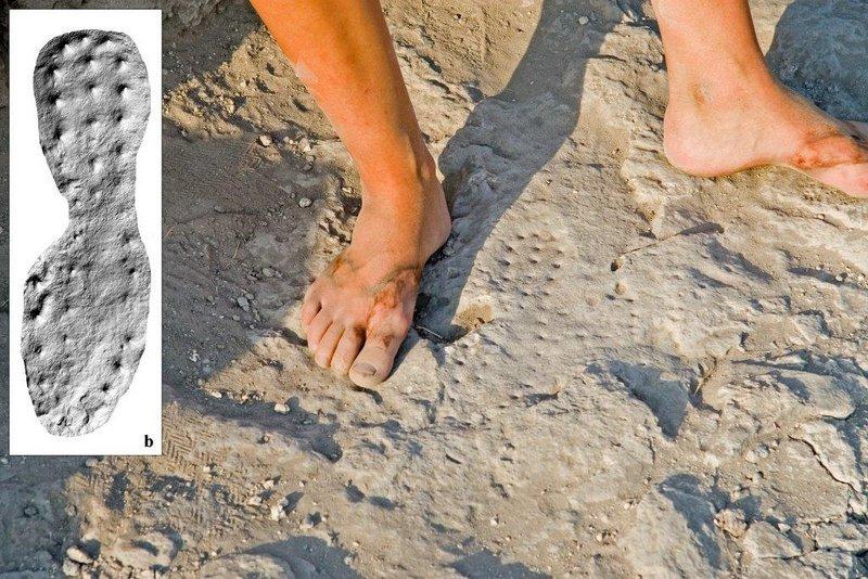 israil'de 2000 yıllık roma asker botu izi bulundu