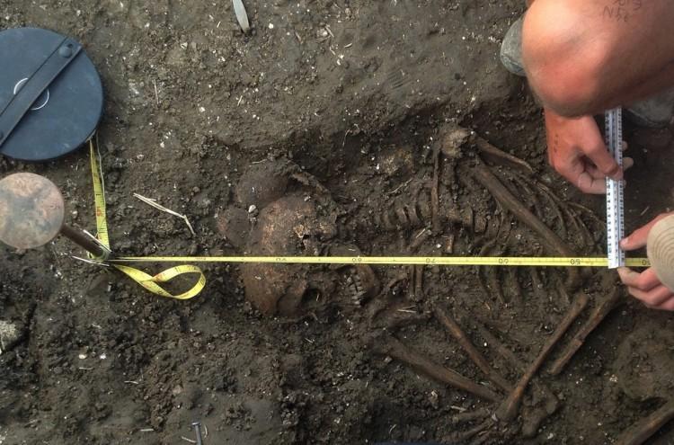 ingiltere wilsford henge'de neolitik çocuk iskeleti