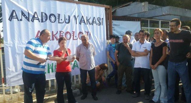 Cevizli Tekel arazisi Anadolu Yakası Arkeoloji ve Şehir Parkı olsun eylemi