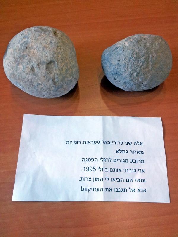israil'de tarihi eseri kaçırdığı için özür dileyen hırsız