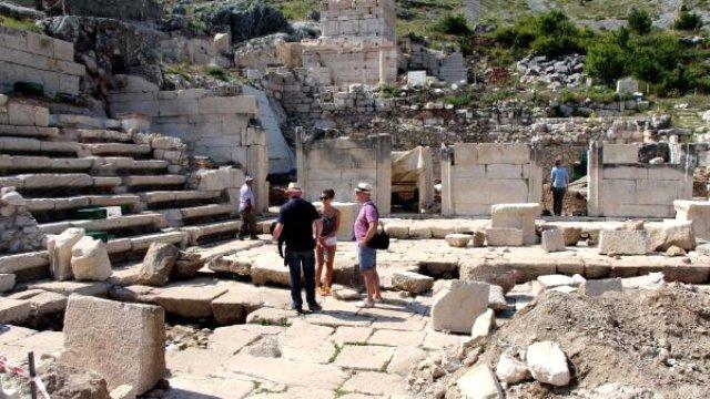ağlasun ilçesinde yer alan sagalassos'ta antik soğuk hahava deposu bulundu