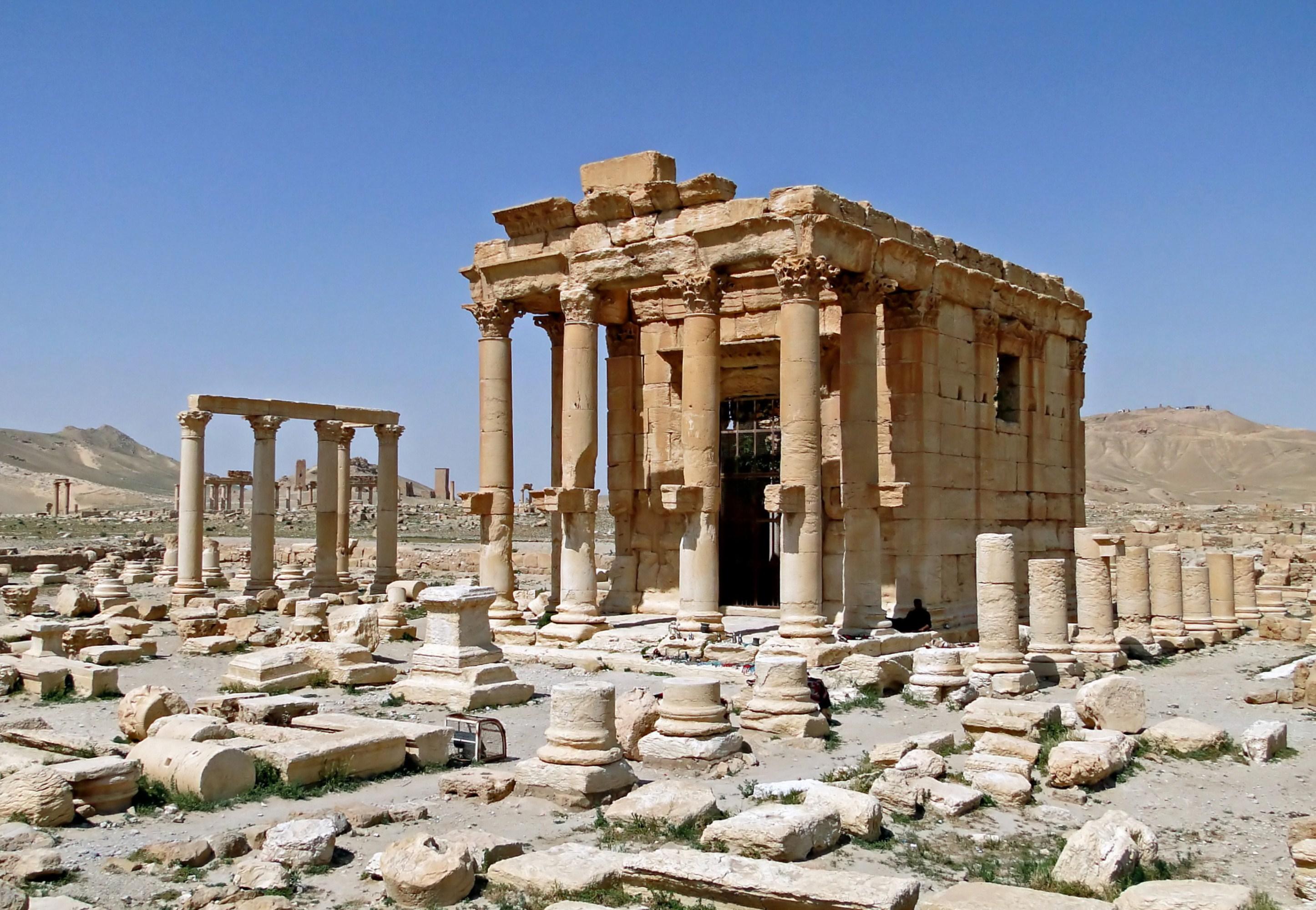 Patlamadan önce Baalshamin tapınağı