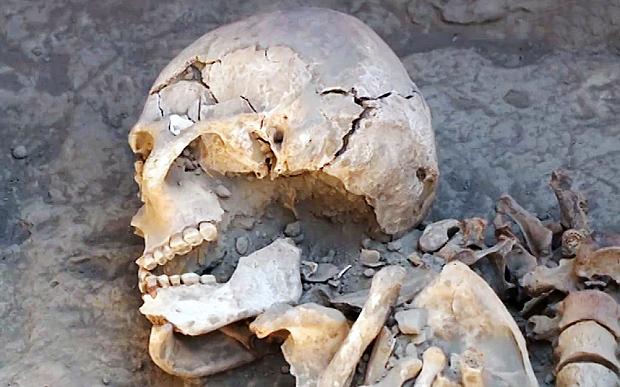 kazakistan'da kanguy kadın mezarı bulundu