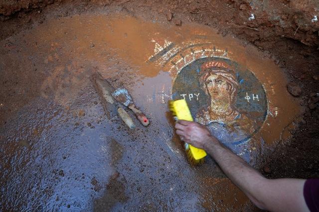 Mersin'deki Olba Antik Kenti'nde 1800 Yıllık Mozaik Bulundu
