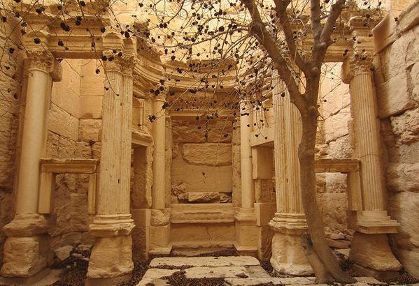Tapınağın iç kısmı