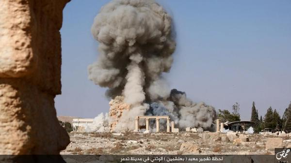 suriye'de ışid'in patlama görüntüleri