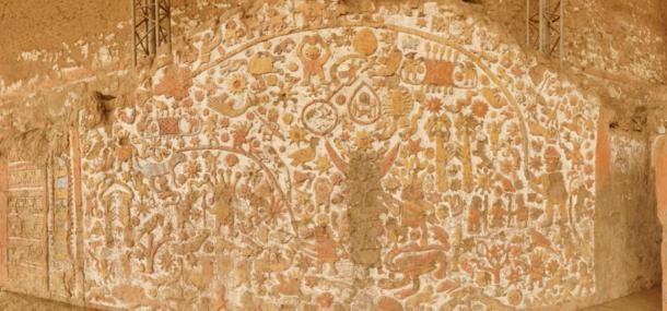 Ay Tapınağı'ndaki Moche duvar resmi, Peru. (National Geographic)