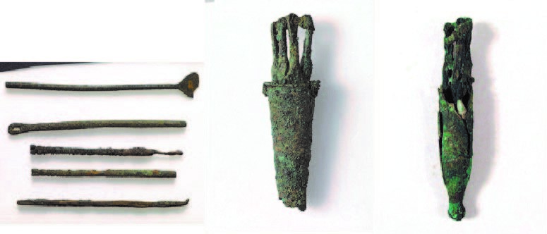 Erken Hanedanlık Dönemi mezarlarında kozmetik aletleri