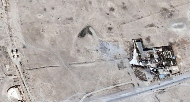 IŞİD'in Palmira Antik Kenti'ndeki Yıkımı Uydu ile Doğrulandı