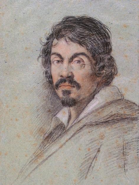 Caravaggio'nun Ottavio Leoni tarafından çizilmiş portresi (Wikipedia)