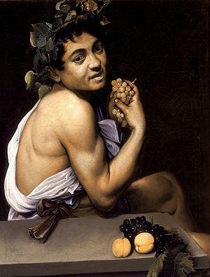Genç Hasta Bacchus (1593). Caravaggio'nun erken bir otoportresi