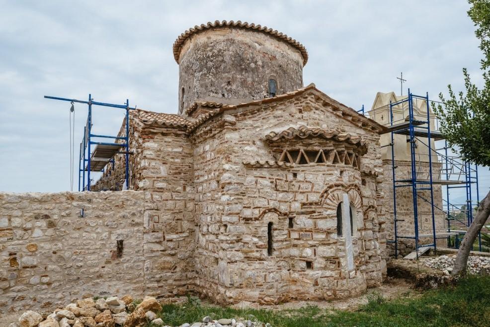 Theotokos'un Doğuşu'nun restorasyonu. Fotoğraf: Epirus Treasures