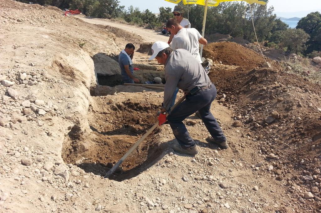 Bodrum'daki İnşaat Alanında 59 Mezar Bulundu
