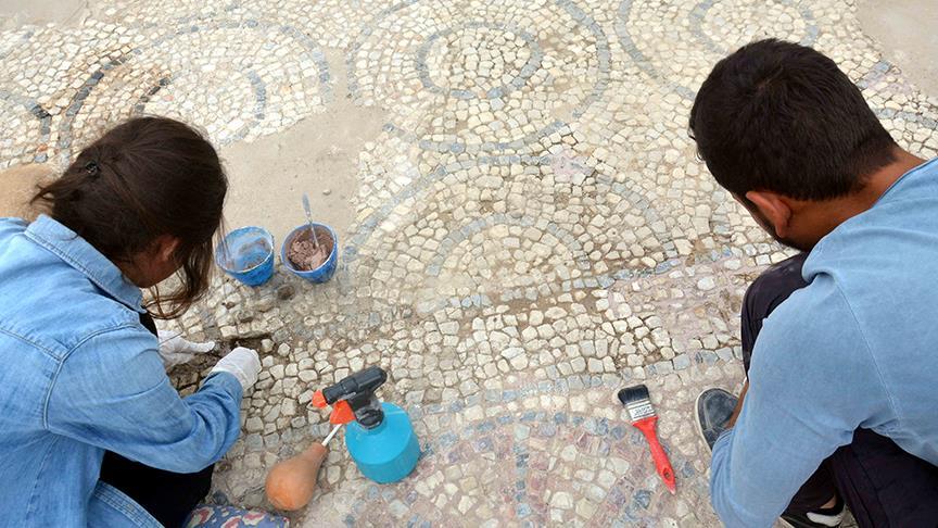 Stratonikeia Antik Kenti'nde Bizans Mozaikleri Ziyaretçiye Açılıyor