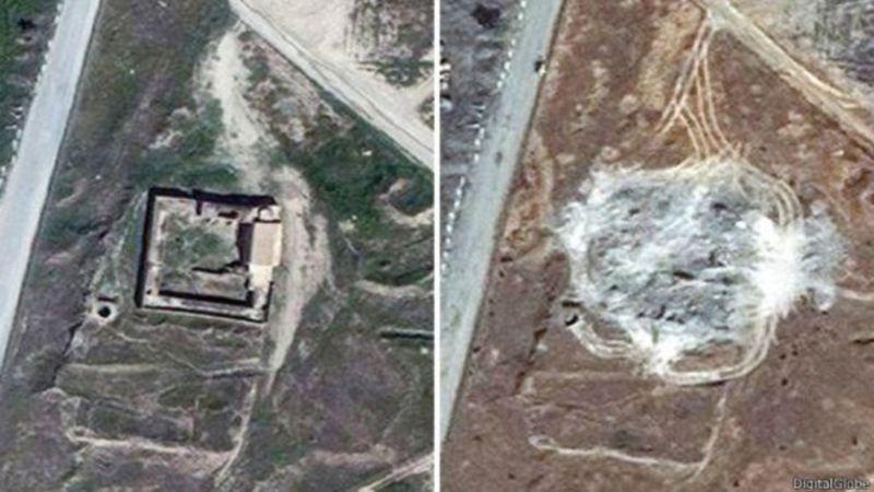 Aziz Elijah manastırı uydu görüntüsü. Fotoğraf: AP