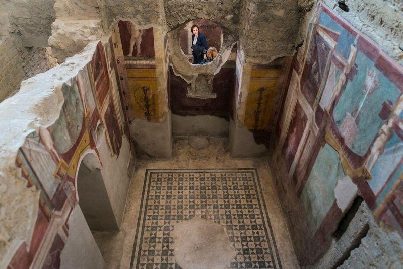 Pompeii'nin yeni restore edilen evlerinden biri. (Pacific Press/Corbis)