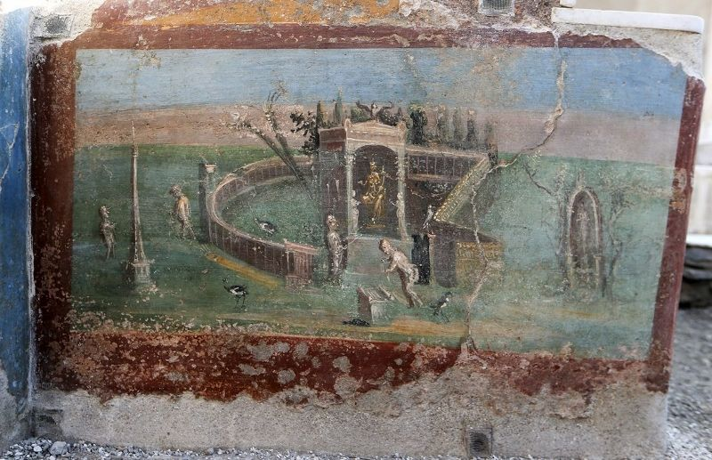 Pompeii'den bir fresk (Ciro de Luca/Reuters/Corbis)