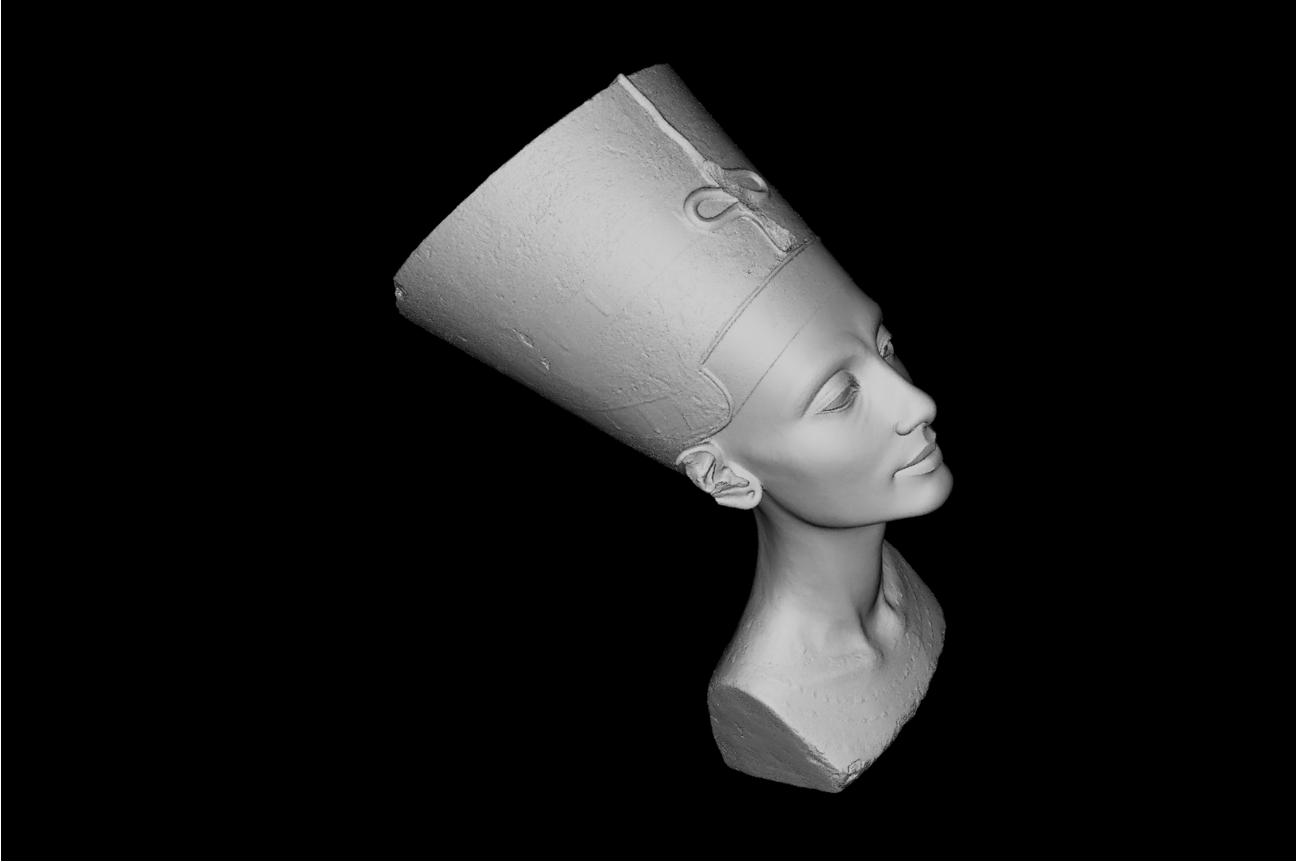 Berlin Mısır Müzesinde bulunan Nefertiti büstü iki sanatçı tarafından gizlice taranarak 3 boyutlu hale çevrildi.