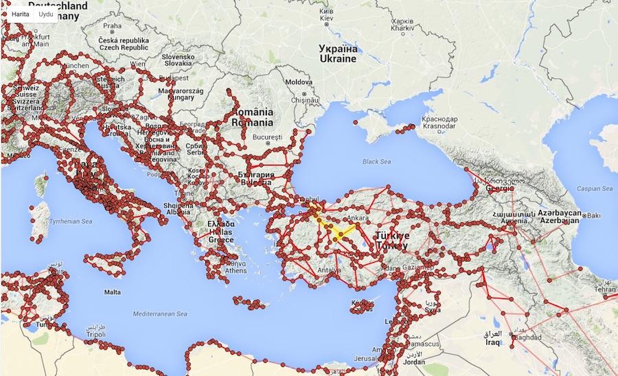 Roma İmparatorluğu'nun İnteraktif Yol Haritası Çıktı