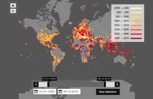 Şiddet Coğrafyası: MÖ 2500'den İtibaren Tüm Savaşların İnteraktif Haritası Çıkarıldı