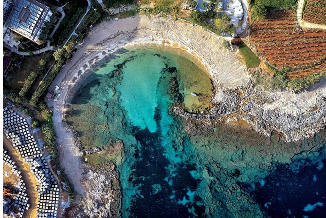Alanya'da Ptolemais Antik Kenti'ne Yapılan Otel İnşaatı Görüntülendi