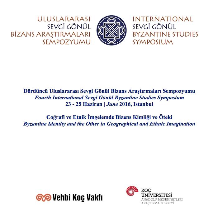 Uluslararası Sevgi Gönül Bizans Araştırmaları Sempozyumu Poster Başvuruları