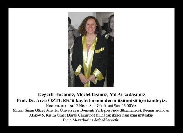Arkeolog Prof. Dr. Arzu Öztürk Vefat Etti