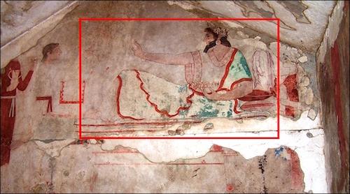 Antalya Elmalı Örenyeri Karaburun Tümülüsü'nden Çalınan 2 Duvar Resmi