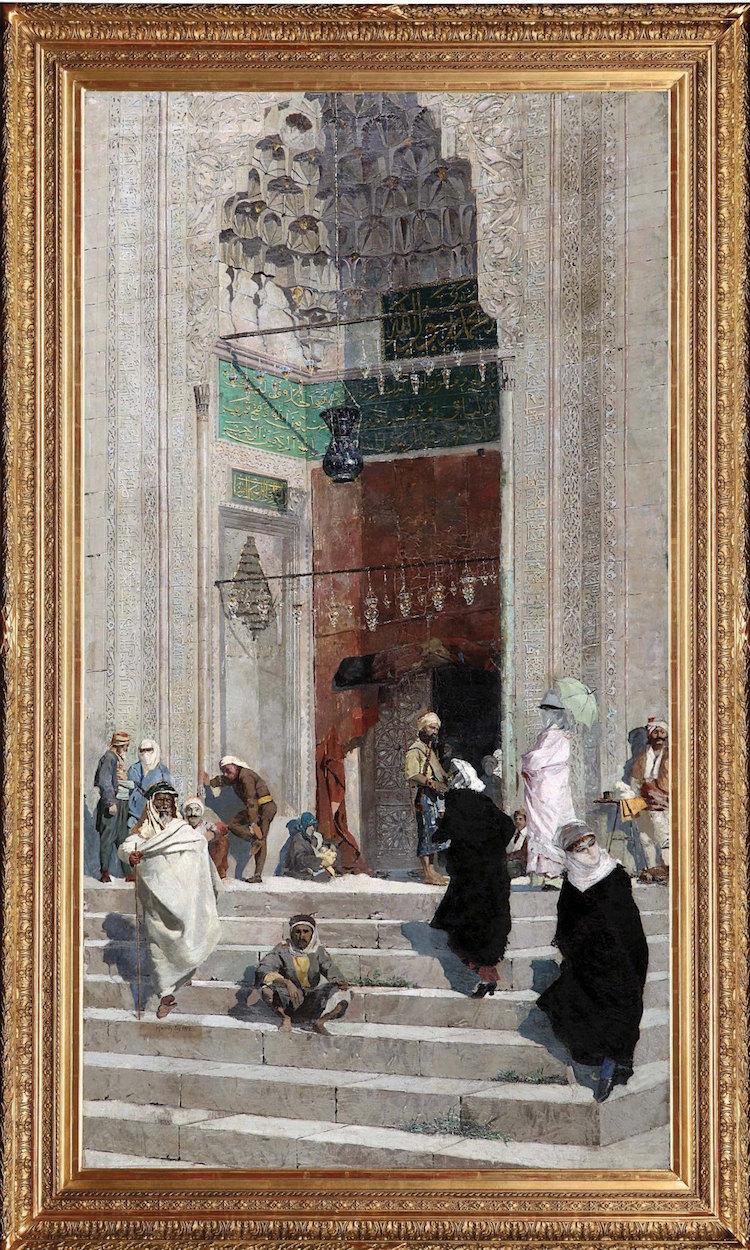 Osman Hamdi Bey'in Yeşil Cami Önü Adlı Tablosu Satıldı