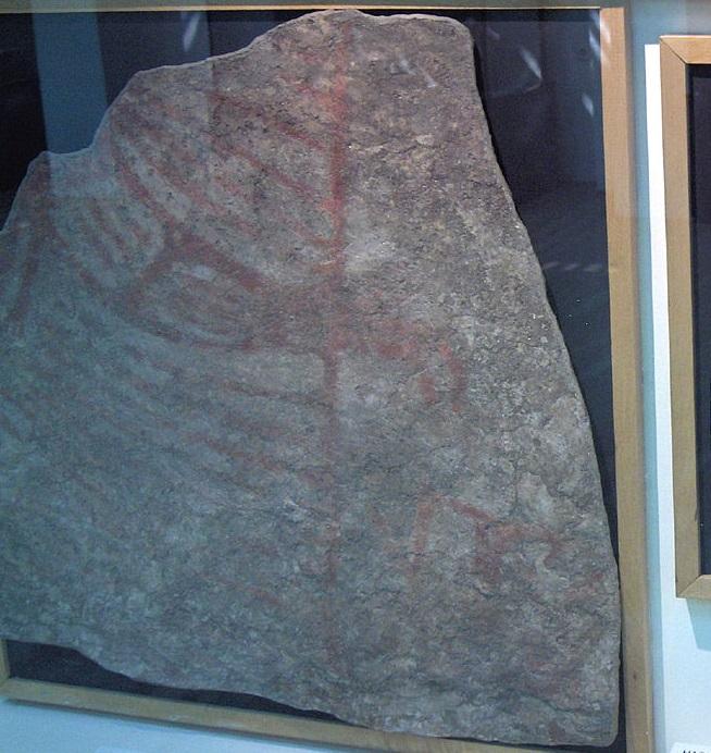 Çatalhöyük'teki akbaba duvar resminin orijinali Ankara'daki Anadolu Medeniyetleri Müzesi'nde bulunmaktadır. (F: Georges Jansoone, CC BY-SA 3.0 lisansı- wikimedia commons.)