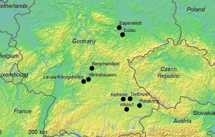Araştırmada örneklerin alındığı yerleşimler
