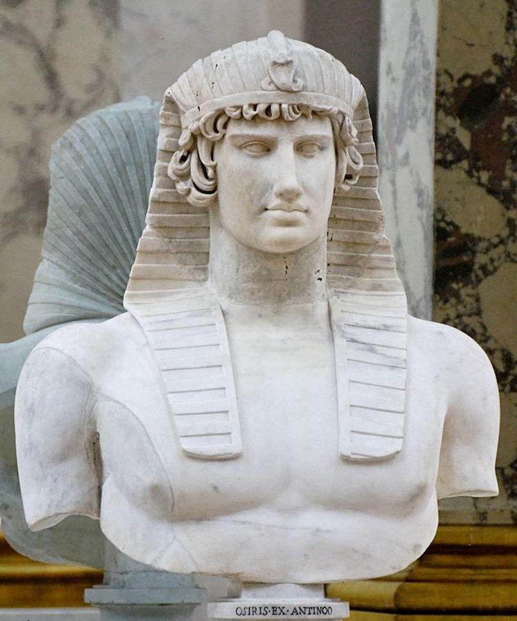Antinous Mısır Tasviri ; Louvre Müzesi