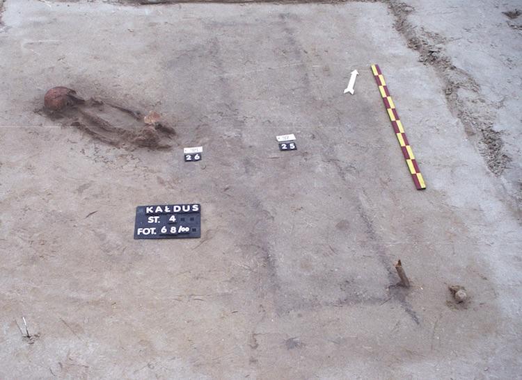"""Kaldus'taki Sit 4'ten """"Vampir karşıtı"""" mezar 26/00."""