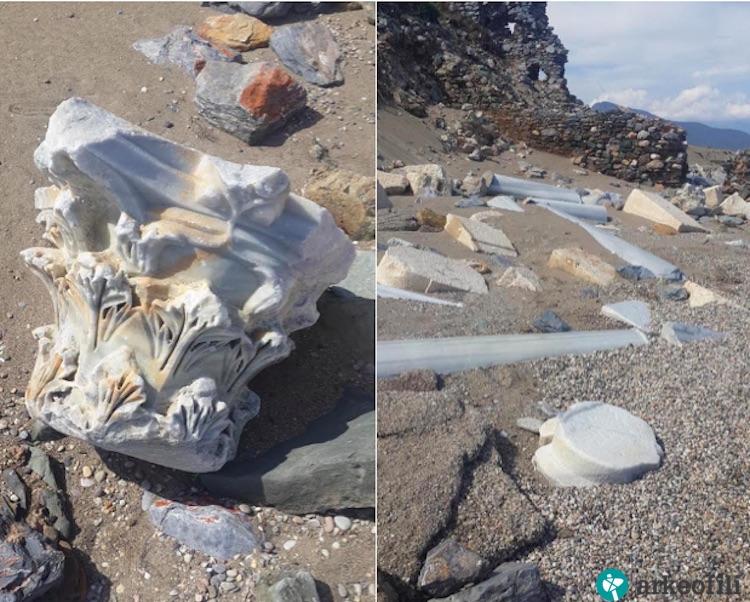 Mersin'de Anamurium Antik Kenti Denize Gömülüyor