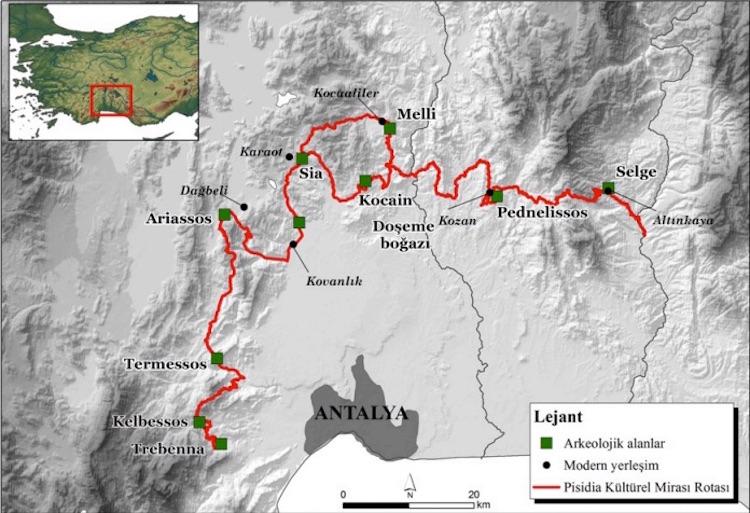Arkeolojiyi ve Doğayı Birleştiren Pisidya Yürüyüş Yolu Hazırlanıyor