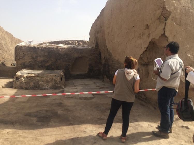 Van'daki Urartu Kalesinde 2700 Yıllık Mozaik İşlemeli Platform Bulundu