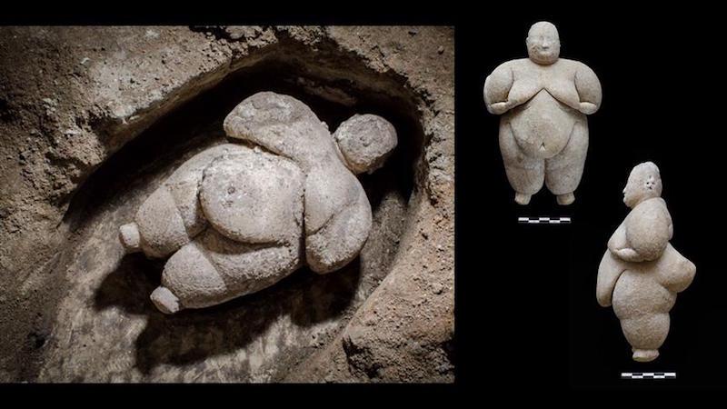 Çatalhöyük'te tüm olarak bir kadın heykelciği bulundu
