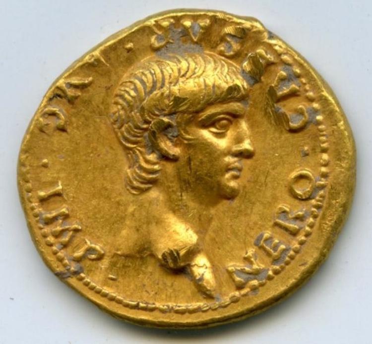 Kudüs'te İmparator Nero'nun Betimlendiği Altın Sikke Bulundu